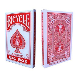 Big Bicycle Cards (Jumbo Bicycle Cards, Red Deck)