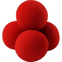 4 Super Soft Sponge Balls 70 mm