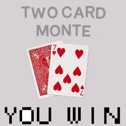 Ultimate Two Card Monte in Bicycle Cards