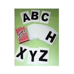 Alphabet Deck of 54 cards